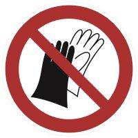 """SV07 Verbotszeichen """"Benutzen von Handschuhen..."""
