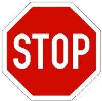 """Verkehrszeichen """"STOP"""""""