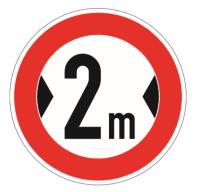 """Verkehrszeichen """"Verbot Fahrzeuge über eine..."""