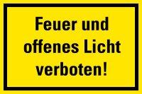 """HG01 Hinweisschild """"Feuer und offenes Licht..."""