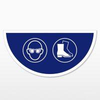 Augen und Fußschutz-Halbkreis