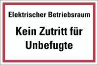 """HZ06 Hinweisschild """"Elektrischer Betriebsraum"""""""