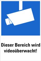 """HZ14 Hinweisschild """"Videoüberwachung"""""""