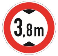 """Verkehrszeichen """"Verbot für Fahrzeuge über..."""