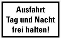 """HZ10 Hinweisschild """"Ausfahrt frei halten"""""""