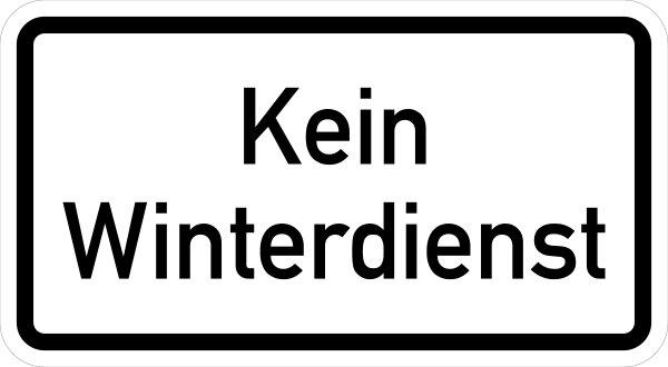 """VB11 Hinweisschild """"Kein Winterdienst"""""""