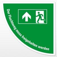 Rettungsweg-Viertelkreis (Text)