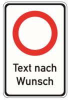 """Verkehrszeichen Kombischild """"Geschwindigkeitsangabe..."""
