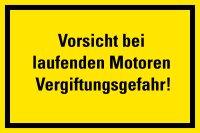 """HG03 Hinweisschild """"Vorsicht bei laufenden..."""