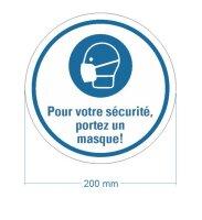 """Bodenmarkierung """"Pour votre sécurité,..."""