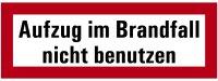 """SB44 Brandschutzzeichen """"Aufzug im Brandfall nicht..."""
