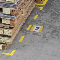 Bodenschild 1/2 DIN A4 längs