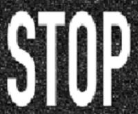 """STOP"" Markierung"