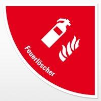 Feuerlöscher-Viertelkreis