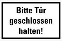 "HZ09 Hinweisschild ""Tür geschlossen halten"""