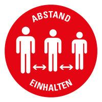 """SG40 Gebotszeichen """"ABSTAND EINHALTEN (Version 2)"""" Ø 150mm"""