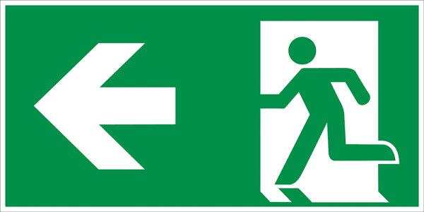 """SR41 Rettungszeichen """"Rettungsweg links"""""""