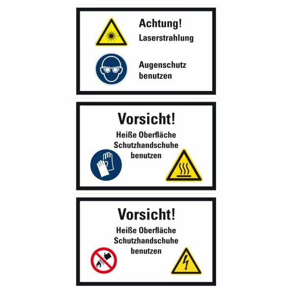 """SWK14 Warnzeichen Kombischild """"Warnung vor Flurförderzeugen"""" mit Text"""