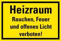 """HG02 Hinweisschild """"Heizraum"""""""