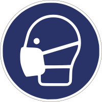 """SG26 Gebotszeichen """"Staubmaske tragen"""""""