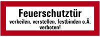 """SB42 Brandschutzzeichen """"Feuerschutztür..."""