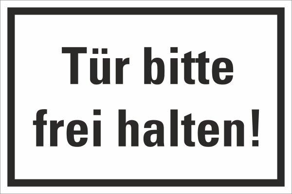 """HZ08 Hinweisschild """"Tür frei halten"""""""