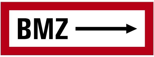 """SB46 Brandschutzzeichen """"BMZ Richtungsangabe"""""""