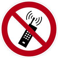 """SV20 Verbotszeichen """"Eingeschaltetet Mobiltelefone..."""