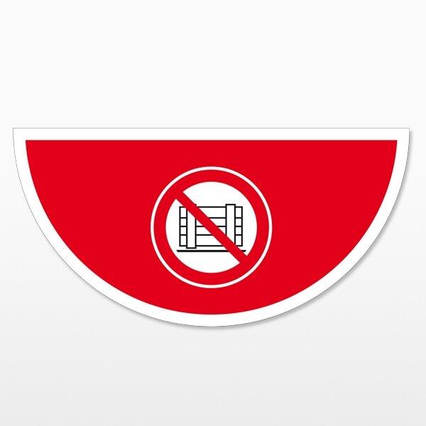 Abstellen verboten-Halbkreis