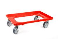LPS-Transportroller 600x400, 2 Lenkrollen und 2 Bockrollen