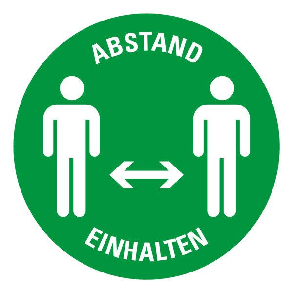 """Bodenmarkierung bedruckt """"ABSTAND EINHALTEN (Version 3)"""" Ø 200mm"""