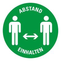 """Bodenmarkierung bedruckt """"ABSTAND EINHALTEN (Version..."""
