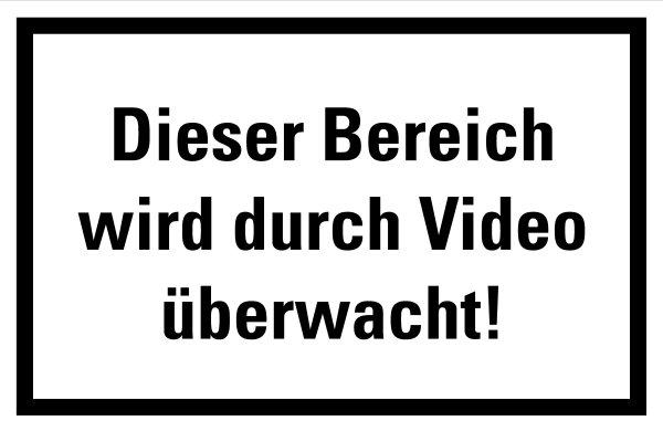 """HZ11 Hinweisschild """"Bereich wird Videoüberwacht"""""""