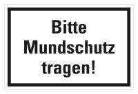 """HK01 Hinweisschild Folie bedruckt """"Bitte Mundschutz..."""