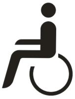 """Symbol """"Rollstuhlfahrer"""""""