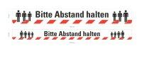 """Schild / Bodenmarkierungsband  """"Bitte Abstand..."""