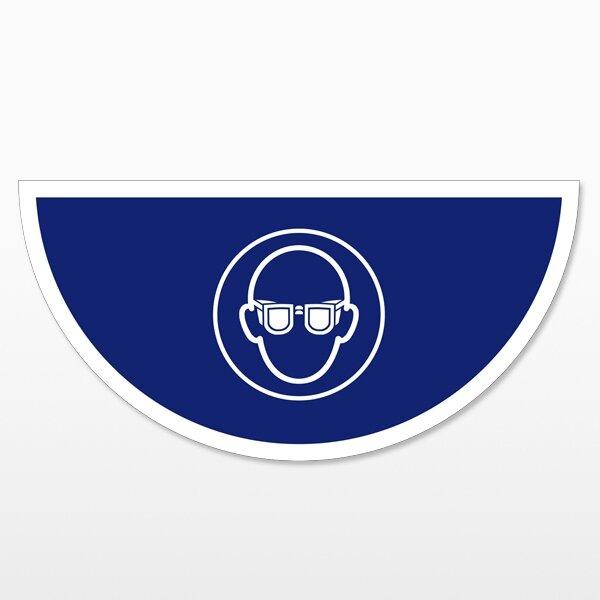 Augenschutz benutzen-Halbkreis