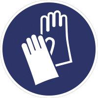 """SG04 Gebotszeichen """"Handschuhe benutzen"""" 75 mm..."""