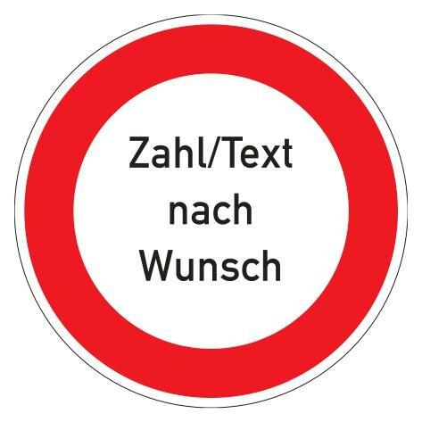 Sicherheitskennzeichen Zahl/Text nach Wunsch-Innenbereich-600 mm-PC