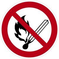 """SV05 Verbotszeichen """"Keine offene Flamme; Feuer,..."""