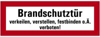 """SB41 Brandschutzzeichen """"Brandschutztür..."""