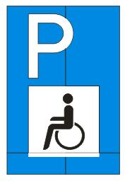 """Sonderzeichen """"Behindertenparkplatz"""""""