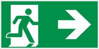 "SR44 Rettungszeichen ""Rettungsweg rechts"" Folie..."