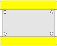 MUSTER: Bodenschild 1/3 DIN A4 gelb geschlossen