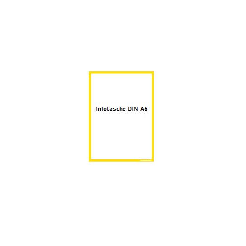 Infotasche DIN A6 Ausschnitt