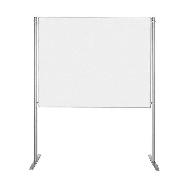 Whiteboard mit Ständer 1500 x 1200 mm silber eloxiert
