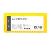Etikettenhalter oben offen 110 x 50 mm grau...