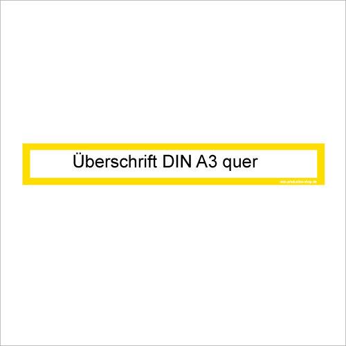 MUSTER: Überschrift Infotasche A3 quer / A2 hoch