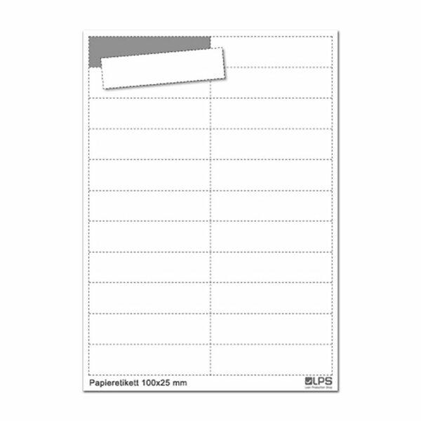 MUSTER: Kartoneinlage für Etikettenhalter EH-01